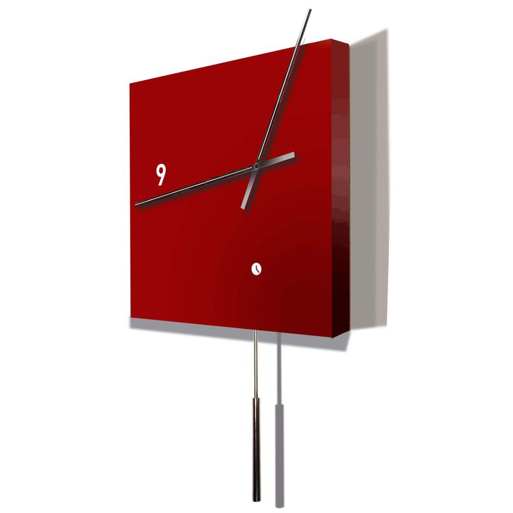 Tothora's Area Pendulum Wall Clock - one of there modern clock collection, hand made in Barcelona and built to order.  A stunning clock with exceptional reliability and silence that enable you enjoy time in a different way.  Availbale from www.clocksandchimes.co.uk