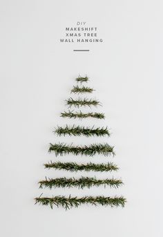 makeshift xmas tree wall hanging | almost makes perfect