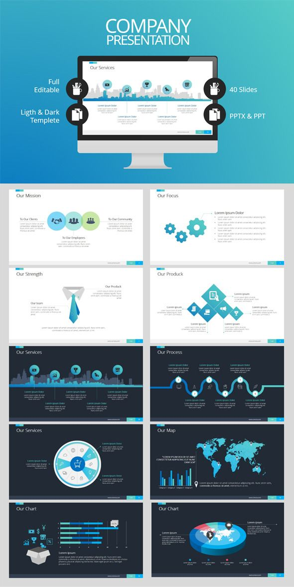 Company Presentation (PowerPoint Templates) Image 20Preview