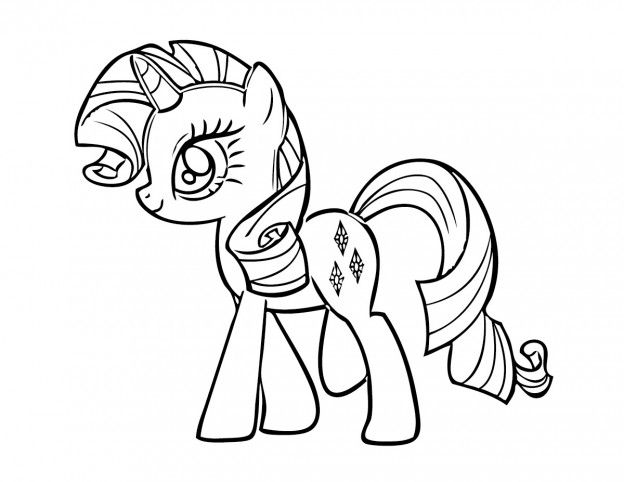 49 best coloring page little pony images on pinterest