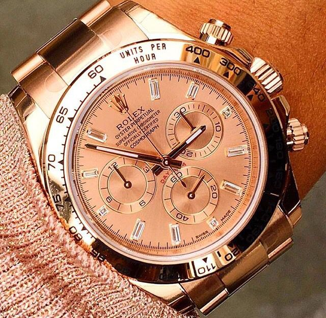 Rolex Daytona in rose gold