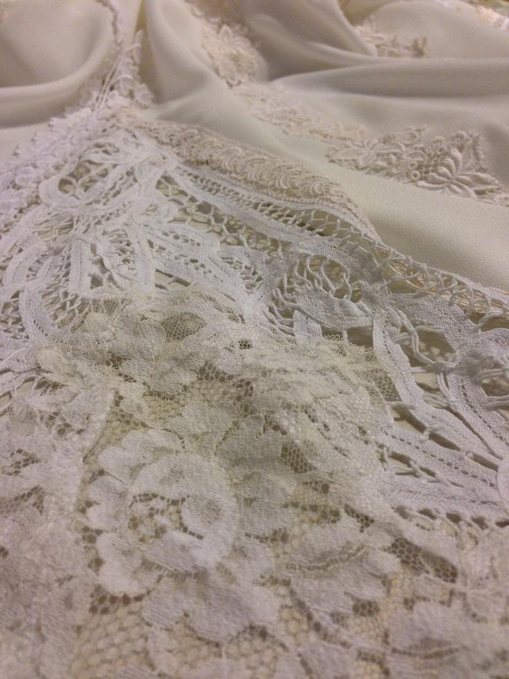 Vintage lace godet #Dimity #EcoBride