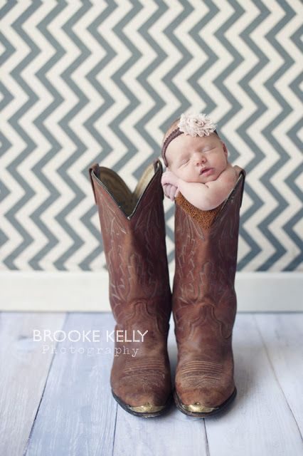 Newborn in cowboy boot, Newborn composite photography {Brooke Kelly Photography}