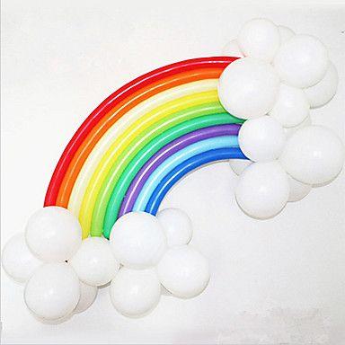 Rainbow+Balloon+Set+Birthday+Party+Wedding+Decor+(20+Long+Balloon,+16+Round+Ballon,+Random+Color)+–+USD+$+3.39