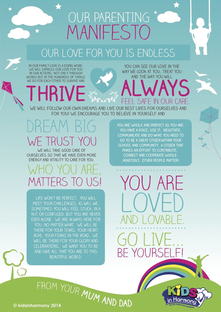 For our beautiful boy!  This beautiful manifesto helps us to cultivate harmony in the home and nurture deep, loving connections to help celebrate the good times and stay strong in the rough patches.