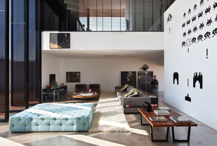 blue: Studios Guilherm, Living Rooms, Dreams Home, Open Spaces, Spaces Invaders, Interiors Design, La Houses, Guilherm Towers, Houses Architecture