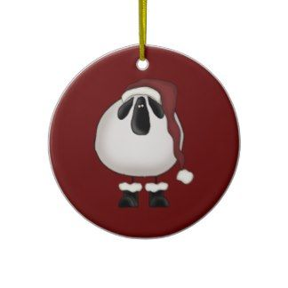 Christmas Sheep Ornament
