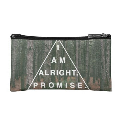 I am alright. Promise #zazzle #zazzlemade #hipster #indie #typography #vintage