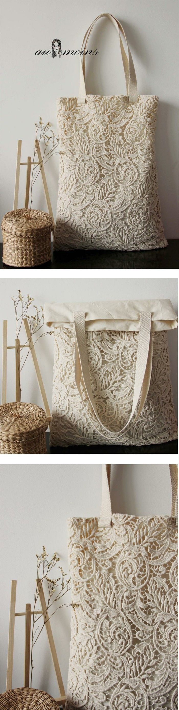 beautiful cotton lace bag