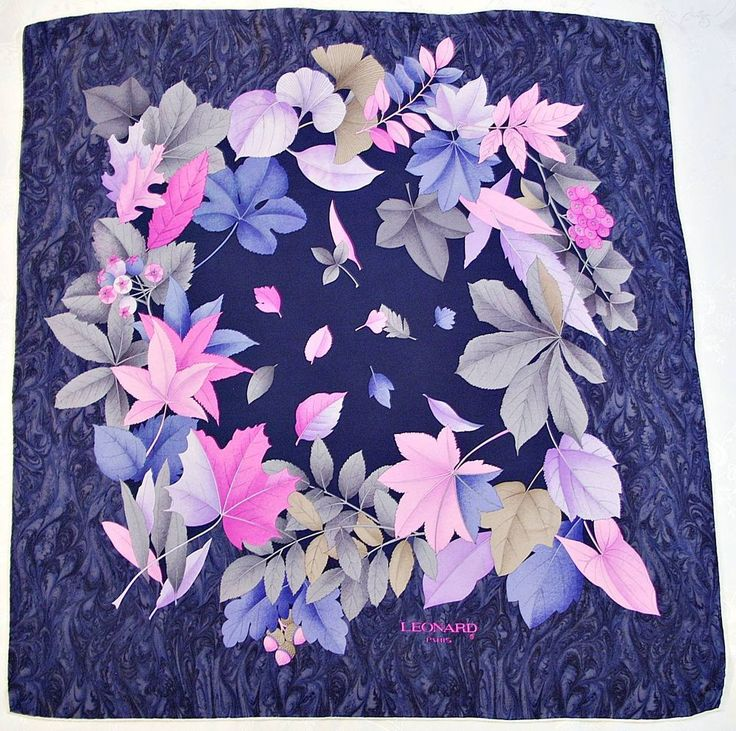 Silk Square Scarf - HERBARIUM by VIDA VIDA H8CSLRL6IN