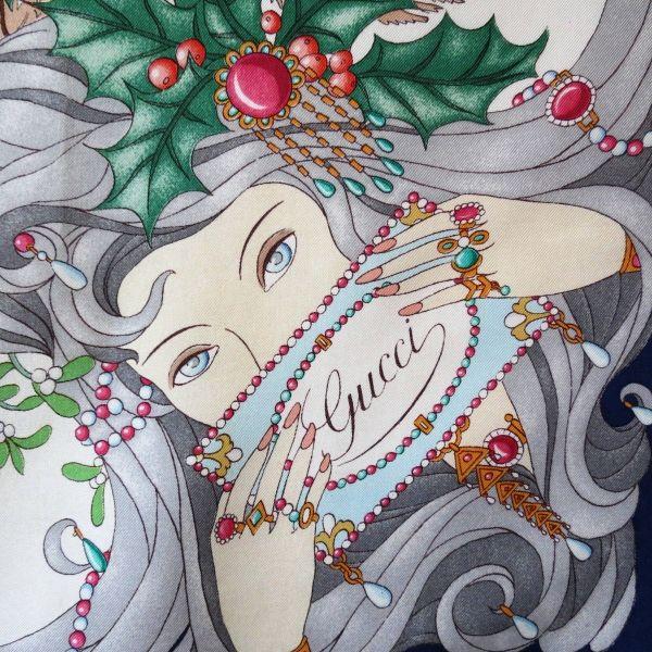 a7625b1fb16 gucci foulard sciarpa vintage rare collector silk gucci scarf V.Accornero  1969 Quattro Stagioni gucci Les quatre saiso…