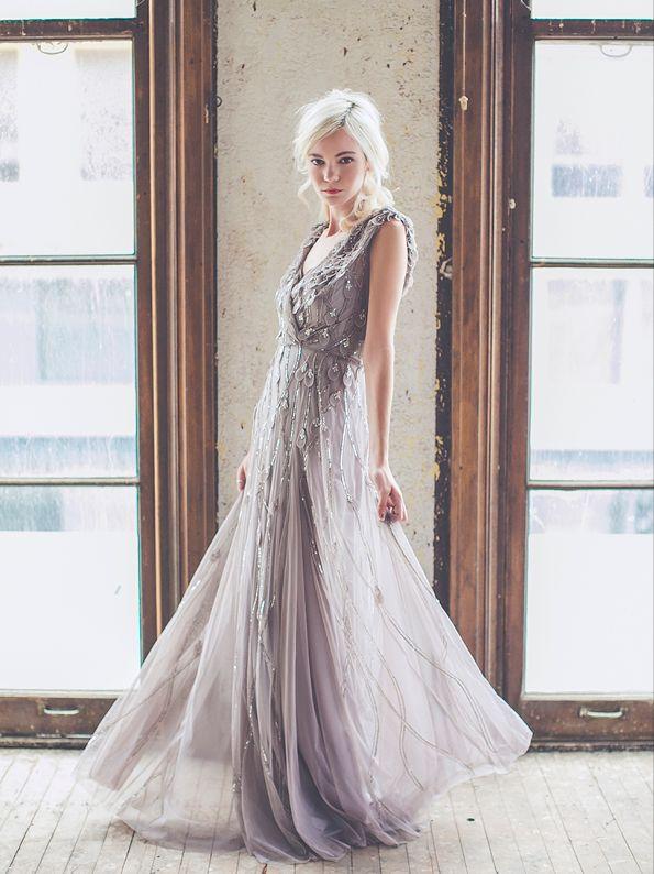 Rachel Gilbert Elsie Gown in Antique