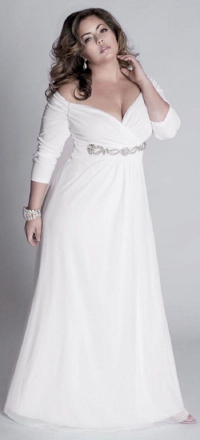 Unique simple plus size wedding dresses Informal