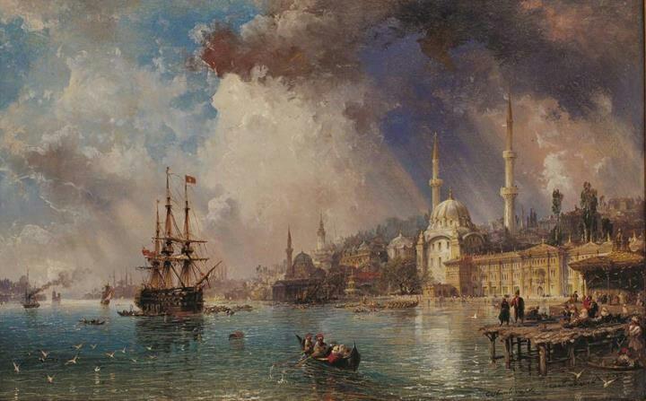 Carlo bossoli 1872 , tophane'den peyzaj