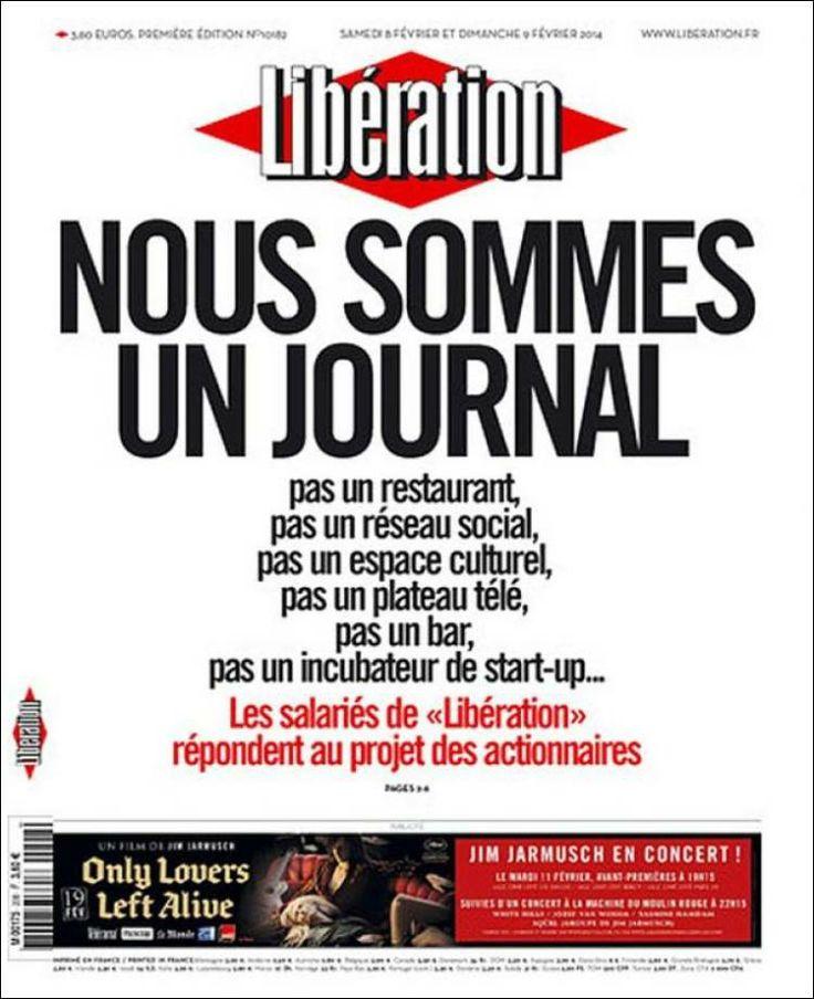 Libération (Francia): «Nous sommes un journal»