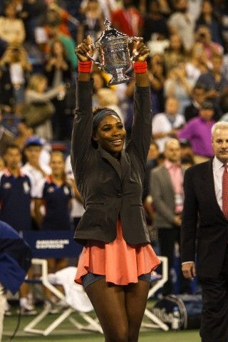 Serena Williams (USA) wins her 17th Grand Slam singles title at the 2013 US Open Tennis Championships