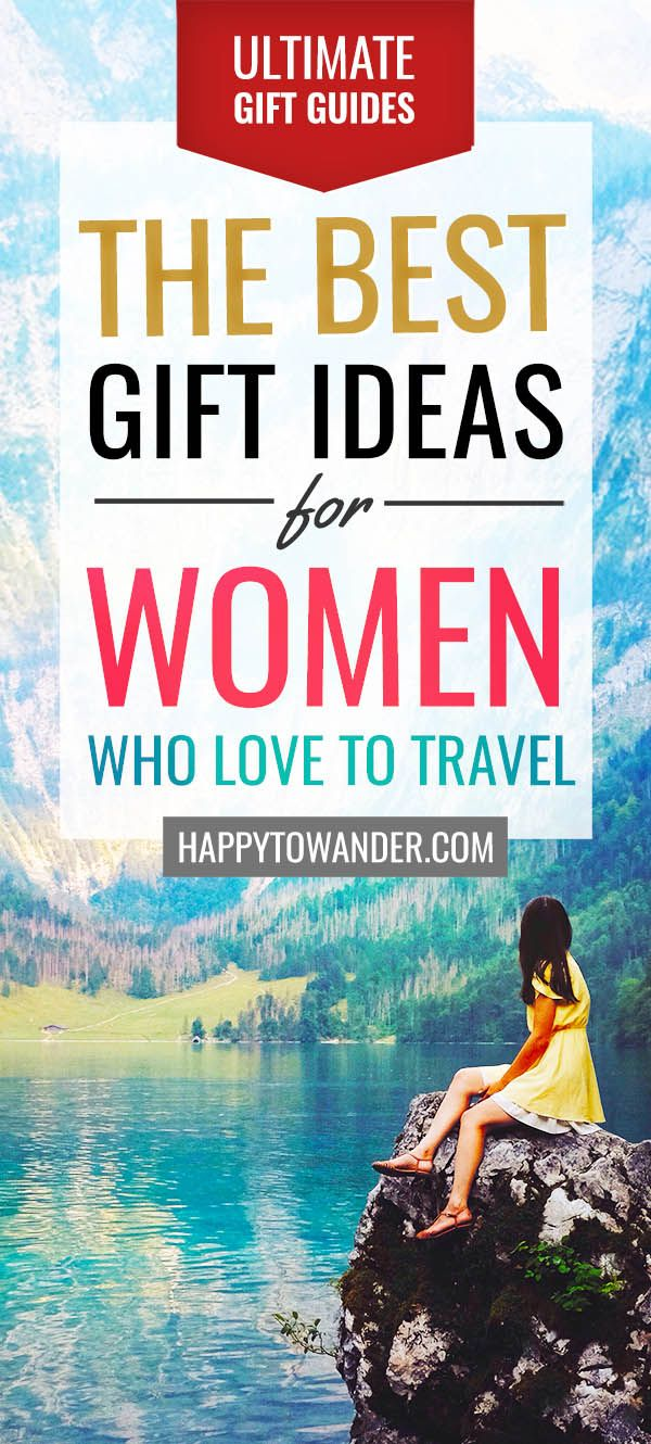 Genius gift guide featuring travel gifts for women who love to travel. A must read with tons of options for every budget! #giftguides #giftideas