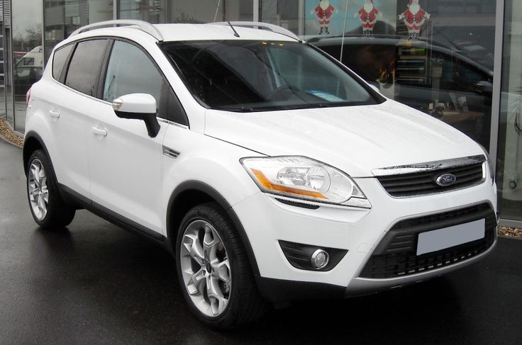 Ford Kuga Review : Ford Kuga Titanium X 2.0 Diesel Powershift In Frozen White From Front Side