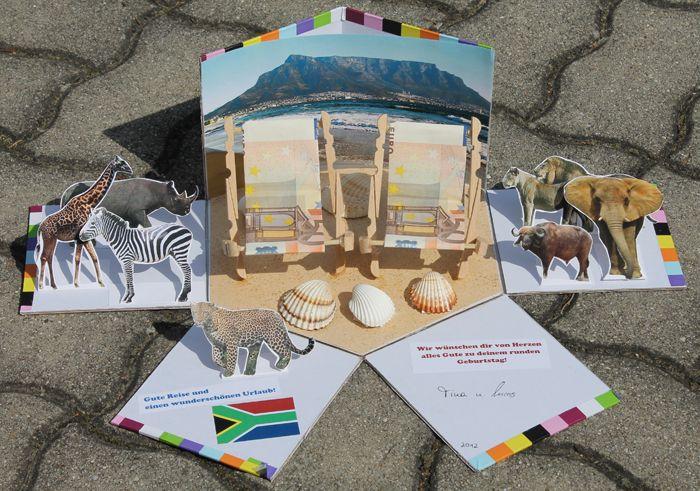 Zuschuss Fur Sudafrika Reise Nett Verpackt Reise Geschenke Geld Verpacken Gutschein Verpacken Reise