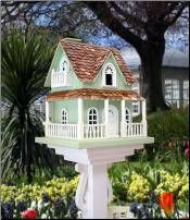 For the fancy bird: Creative Birdhouses, Birdhouses Feeders, Beautiful Birdhouses, Birds Birdhouses, Hobbit House, Bird Houses, Garden, Birdhouses Galore