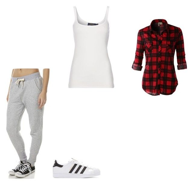 """#420"" by aureeliet on Polyvore featuring Polo Ralph Lauren, Billabong, LE3NO and adidas Originals"