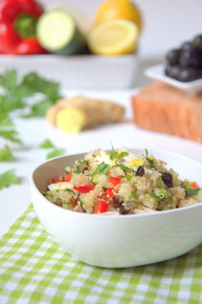 Ensalada de quinoa y pollo, una idea genial para comer en verano