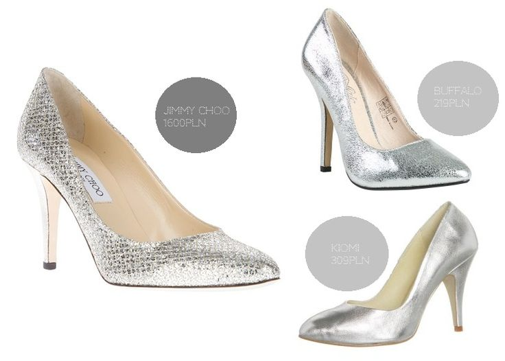 buty slubne srebrne