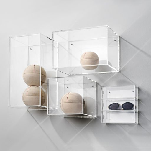 Designed by Danish design brand Nomess Copenhagen, this clear Acrylic box is made to aid you in organizing your life with a splash of style. Nomess Copenhagen was founded by Suzanne Potts in 2007, as