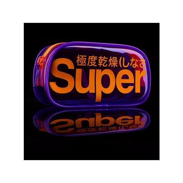 Superdry Neon Bag ($14) ❤ liked on Polyvore featuring bags, handbags, purple, pvc bag, zipper purse, superdry bag, zip bags and neon handbags