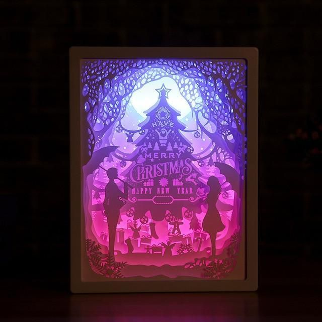 3d Light And Shadow Night Lamp Paper Carving Art Paper Carving Paper Sculpture 3d Paper
