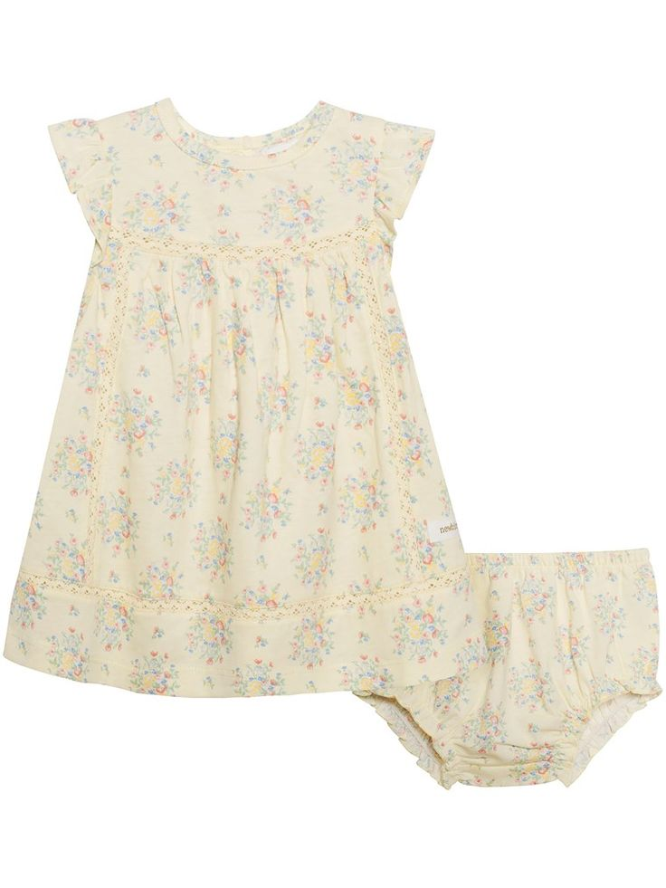 Sukienka w kwiaty, Żółty, Kids - KappAhl