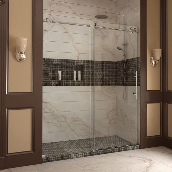 DreamLine Enigma-X 56 to 60 inches Fully Frameless Sliding Shower Door