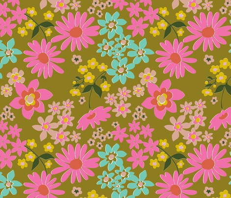 vintage fleurette gold wallpaper