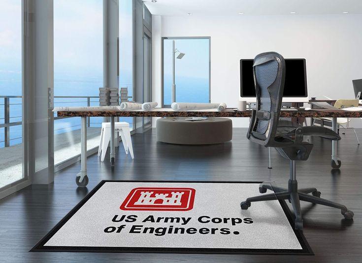 custom logo rugs. Buy US Army Corps Of Engineers Logo Rug Online | Rats Custom Rugs D