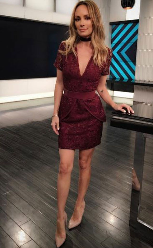 "Catt Sadler from E! News Look of the Day  ""Who is watching? We on.Dress: @wayfpr @janeylopatypr Velvet Choker: @sageandstonela Shoes: @prada #StyledByBec #theCATTWALK Makeup: @themariavee Hair: @theonly_davidrobert"""
