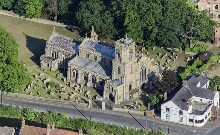 St Peter's Church in Upwell - Norfolk aerial image   by John D F