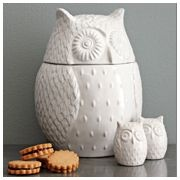cookie jar: Salts Peppers Shakers, Kitchens, Idea, Salt Pepper Shakers, Owl Cookie Jars, Stuff, Owl Cookies Jars, Owl Jars, West Elm