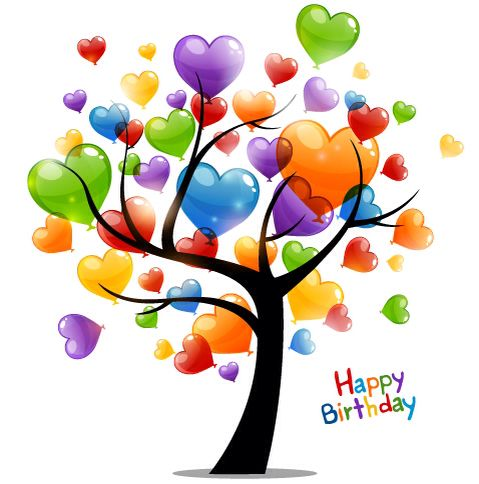 Happy Birthday Balloon Tree