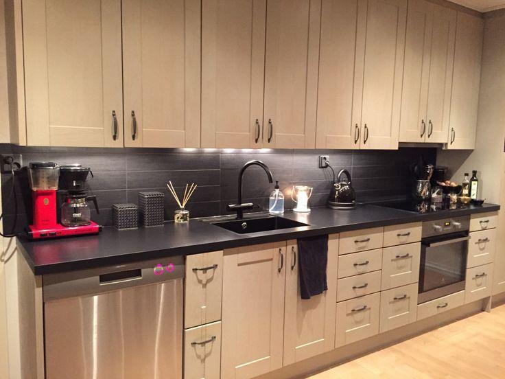 Kitchen - Kök, Grey & Black