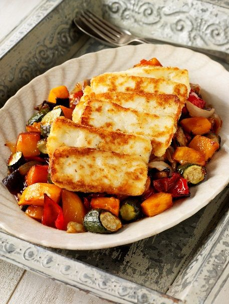 Attachment Mummy: Recipe: Roasted Mesquite Vegetables with Halloumi #vegetarian