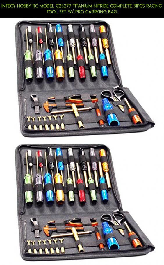 Integy Hobby RC Model C23279 Titanium Nitride Complete 31pcs Racing Tool Set w/ Pro Carrying Bag #kit #tool #racing #fpv #camera #tech #parts #kit #traxxas #shopping #products #gadgets #plans #drone #technology