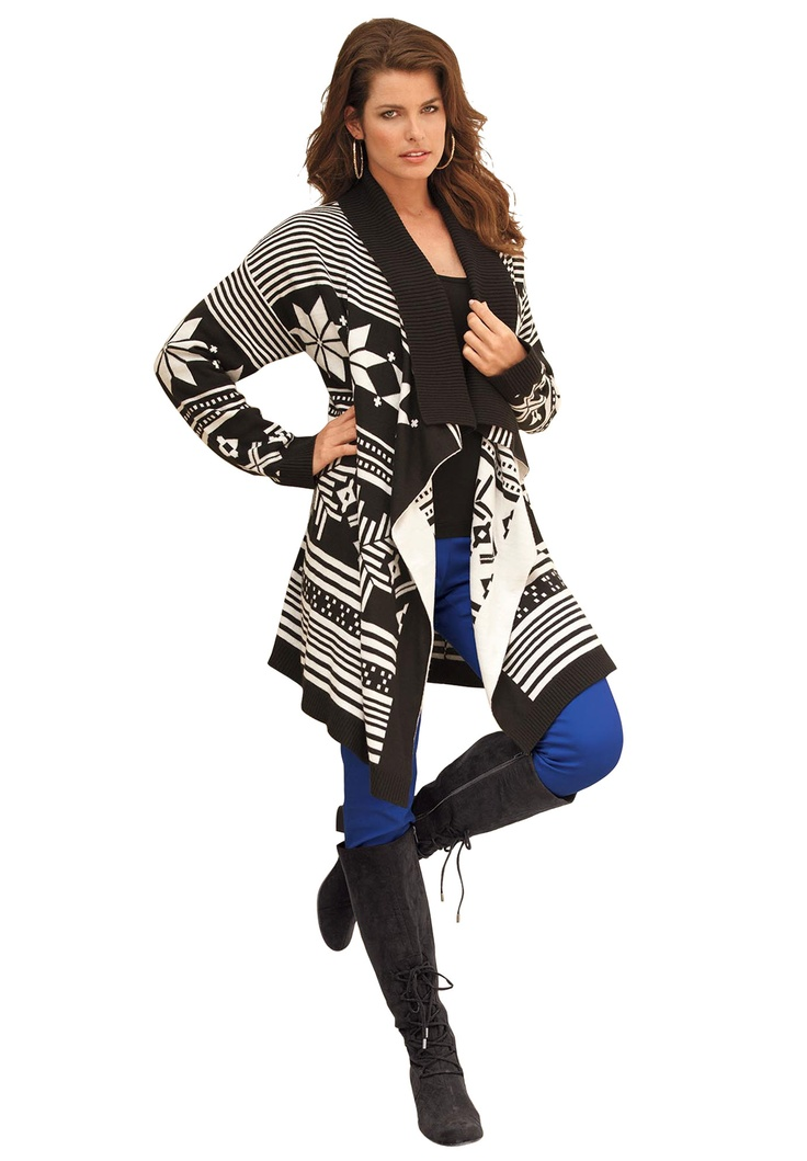 Black Snowflake and Stripe Cardigan $39.99 (I know it's plus size..but the small is probably fine!)