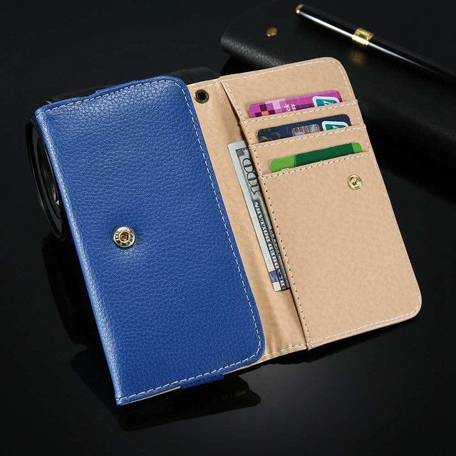Universal General Wallet Pouch PU Leather Mini Phone Bag Case For iphone 7 6 6s 5S SE Cover Z3 Nexus 4 5 P6 A3 2016 Case Bags