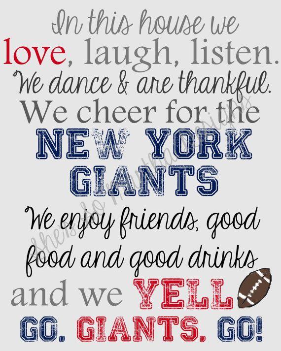 41 Best New York Giants Printables Images On Pinterest