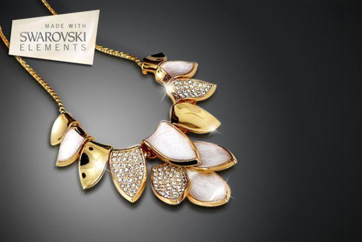 Swarovski Elements Leaf Necklace