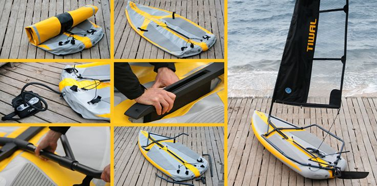 Bad Ass Tiwal inflatable Sail boat