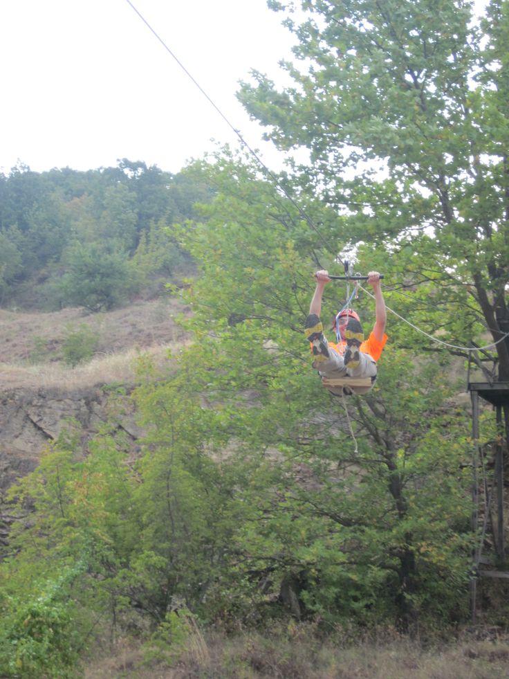 Rappel adventure in Kerkini