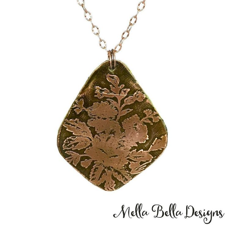 My etched copper statement necklace - available today at the Oakville Ukrainian Festival and through my on-line shop (http://ift.tt/1MLV9Y0) . #floraljewelry #copperjewelry #necklaceoftheday #shophandmade