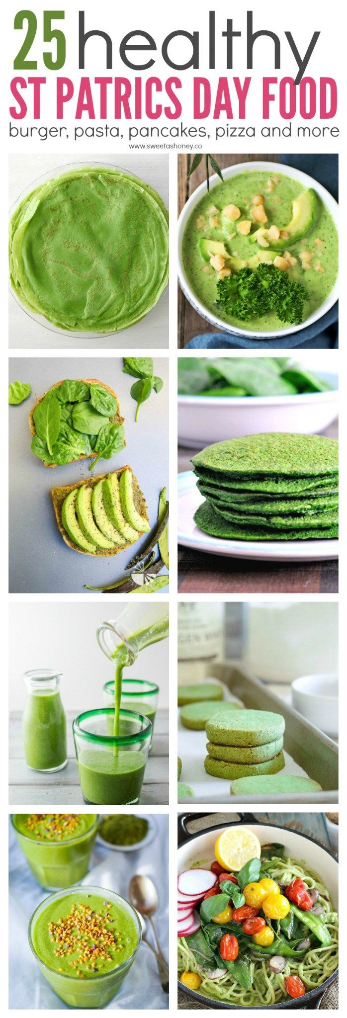 25 Healthy Green Recipe to Celebrate St Patrick's Day. Clean food for St patrick day. Healthy st patrick day food