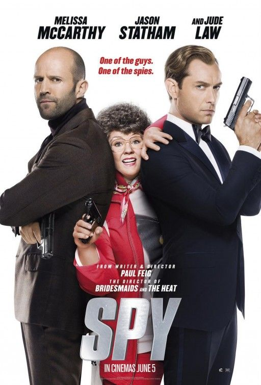 Spy - A desk-bound CIA analyst volunteers to go undercover to infiltrate the world of a deadly arms dealer, and prevent diabolical global disaster.